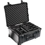 Pelican 1564 Waterproof 1560 Case with Dividers (Black)