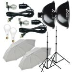 Smith-Victor KT500U 2-Light 500 Watt Thrifty Basic Umbrella Kit